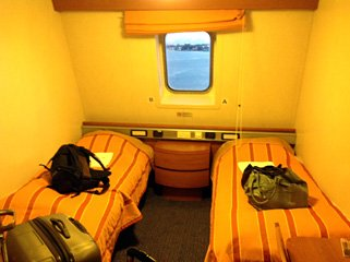 2-berth cabin with shower & TV