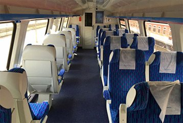 1st class seats on Kaunas-Vilnius train