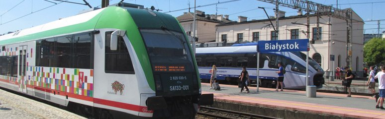 Warsaw to Vilnius by train, not bus