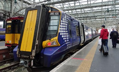 The Scotrail train to Ayr