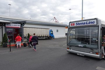 Stena Line courtesy bus from ferry to terminal