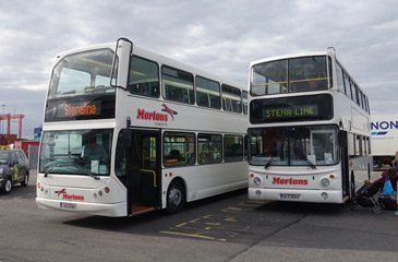 Transfer buses to Dublin city centre