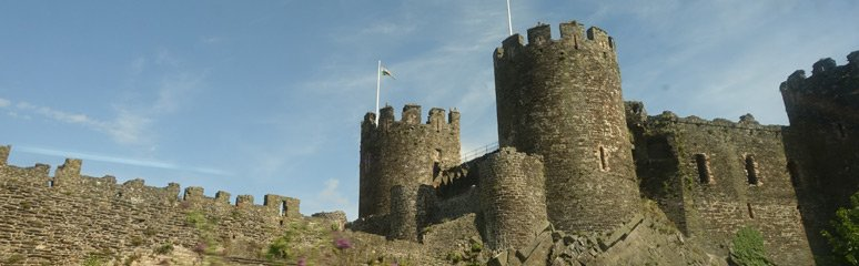 Conwy Castle, seen from the train to Dublin