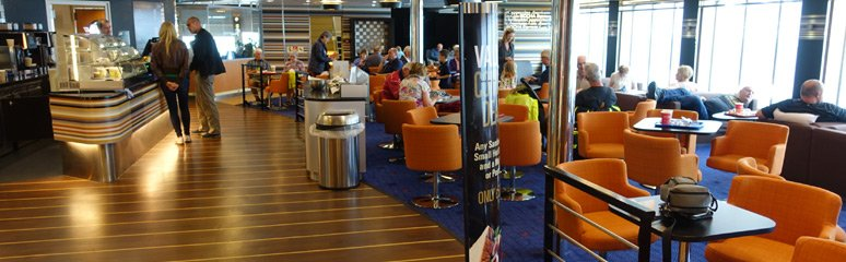 Stena Plus lounge on the Stena Adventurer