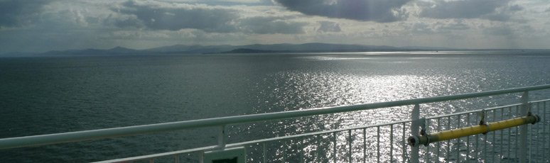 View from the deck of the Ulysses as she approaches the Irish coast...