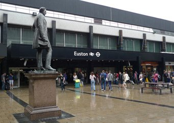 Statue of Robert Stephenson, London Euston