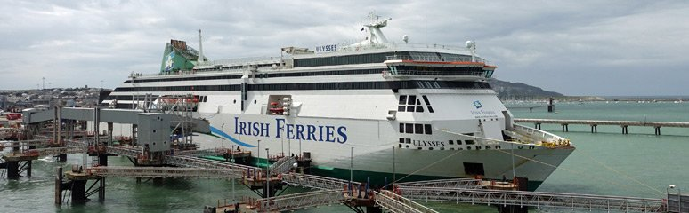Irish Ferries ferry Ulysses at Holyhead