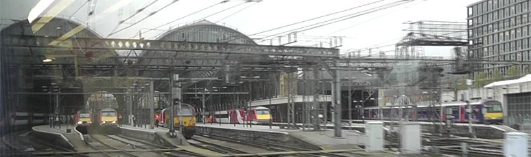 The train leaves Kings Cross