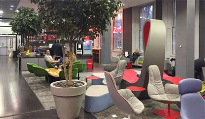 Virgin Trains first class lounge at Kings Cross