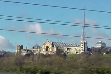 Alexandra Palace, seen from the train