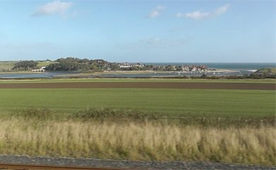 Alnmouth, seen from the train
