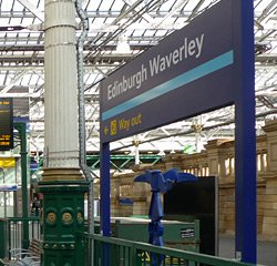 Edinburgh station sign