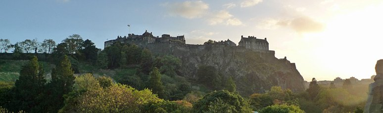 Edinburgh Castle seen from Princes Street