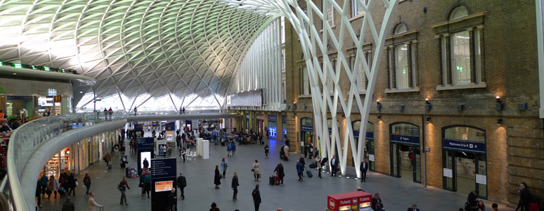 The new station concourse at Kings Cross