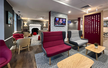 Virgin Trains first class lounge at Edinburgh