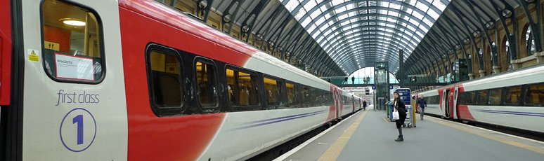 Virgin Train at London Kings Cross