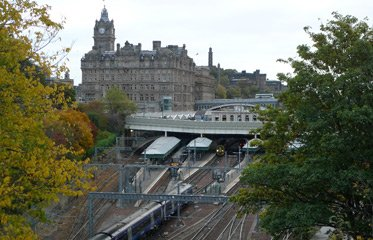View of Edinburgh Waverley station