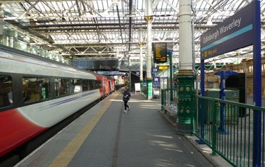 Train at Edinburgh