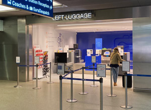 Left luggage office at London St Pancras
