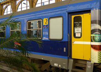 Intercit� de Nuit couchette train from Paris arrived at Nice