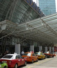 KL Sentral station, main entrance & taxi rank