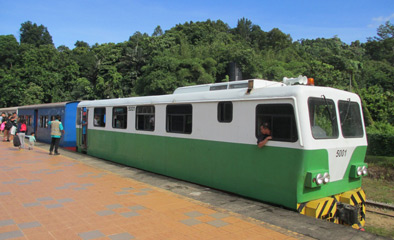 Train on Borneo