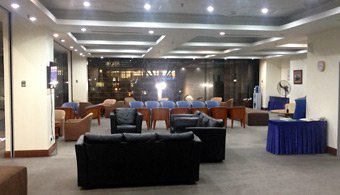 First class lounge at Kuala Lumpur Sentral