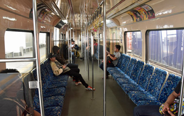 Inside a KTM Komuter train