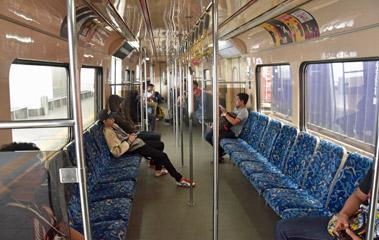 Inside a KTM Komuter train