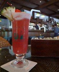 A Singapore Sling at Raffles Long Bar