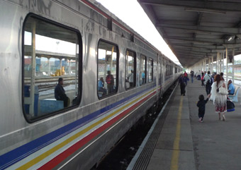 Train 1, the Rakyat Express at Butterworth (Penang)