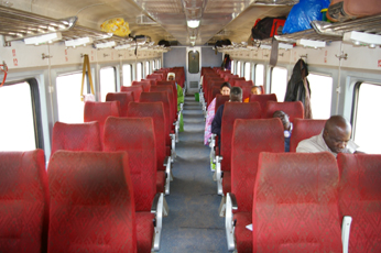 1st class seats on the Bamako to Kayes train