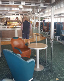 Cafe-bar on the ferry to Malta