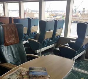 Seating on the ferry to Malta