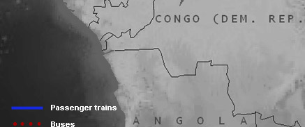 Interactive map of train routes in Southern Africa