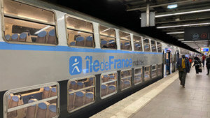 RER (express metro) train in Paris