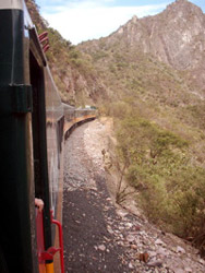 Scenery on the Copper Canyon train ride, Mexico