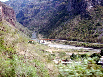 Scenery on the Copper Canyon railway, Mexico