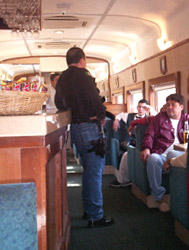 On board the Copper Canyon train in Mexico