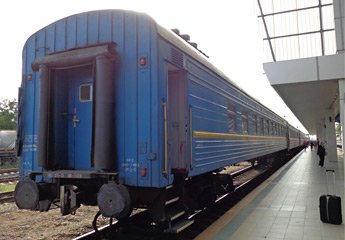The Bucharest to Moldova train arrived at Chisinau/Kishinev