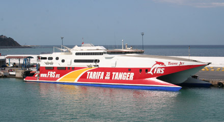 FRS ferry to tarifa, at Tangier town