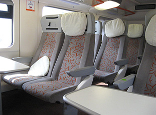 First class seats on the new Moroccan double decker train
