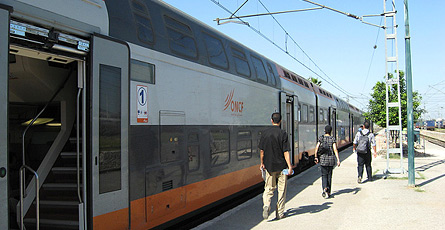 New Moroccan double deck train at Fes