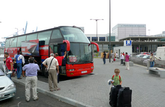 FRS Ferry free transfer bus at Algeciras ferry terminal