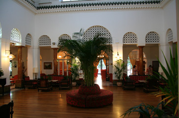 Main hall of the Hotel Reina Cristina, Algeciras.
