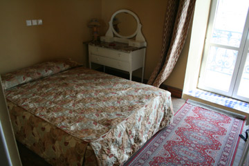 A bedroom at the Continental Hotel in Tangier