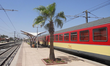 An air-conditioned express train, arrived at Marrakech