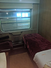 Sleeper on Tangier to Marrakech train