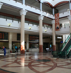 Inside the new Tangier Ville station...