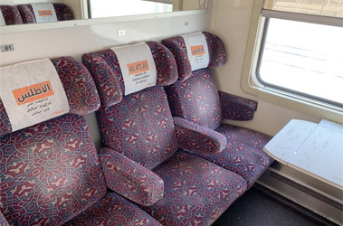 First class seats on a Mroccan express train...
